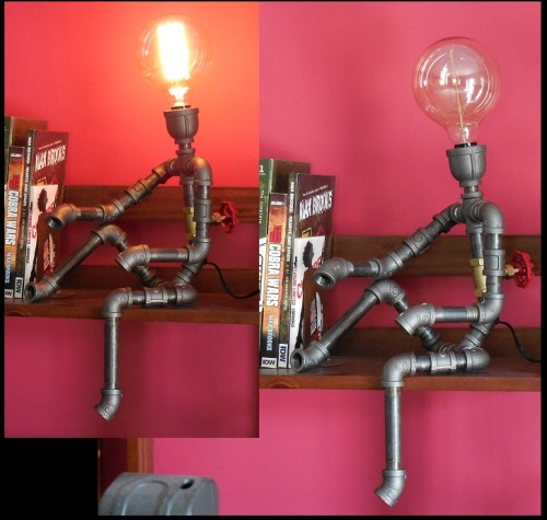 (Lamp) Pipe Man with 4.5in bulb