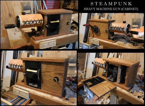 Steampunk Heavy Machine Gun Cabinet